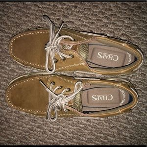 Chaps, Riverton light tan boat shoes